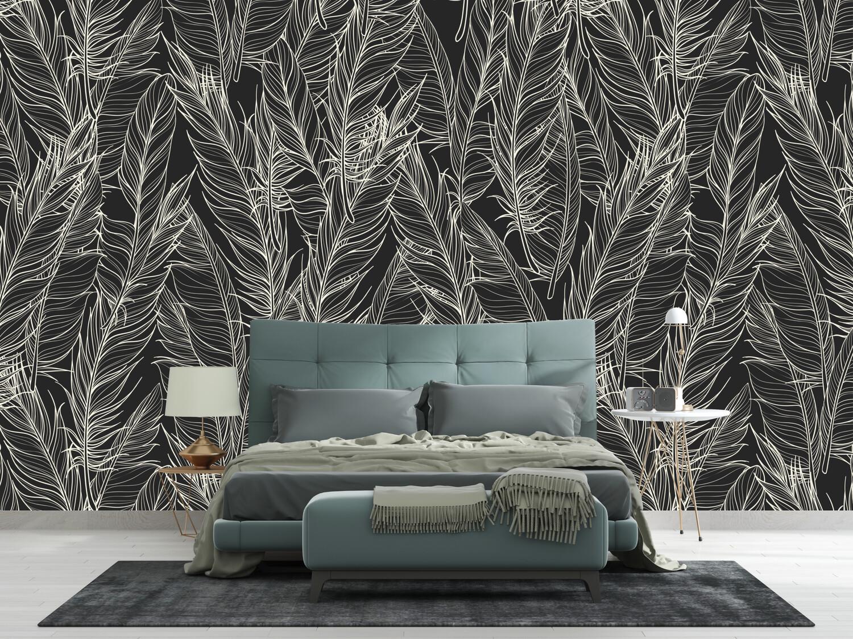 DARK FLOWERS | Vinyl Wall Wrap for Any Room | Removable Vinyl Wallpaper