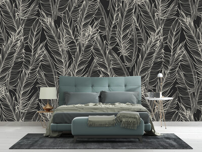 DARK FLOWERS | Vinyl Wall Wrap for Any Room | Removable Vinyl Wallpaper