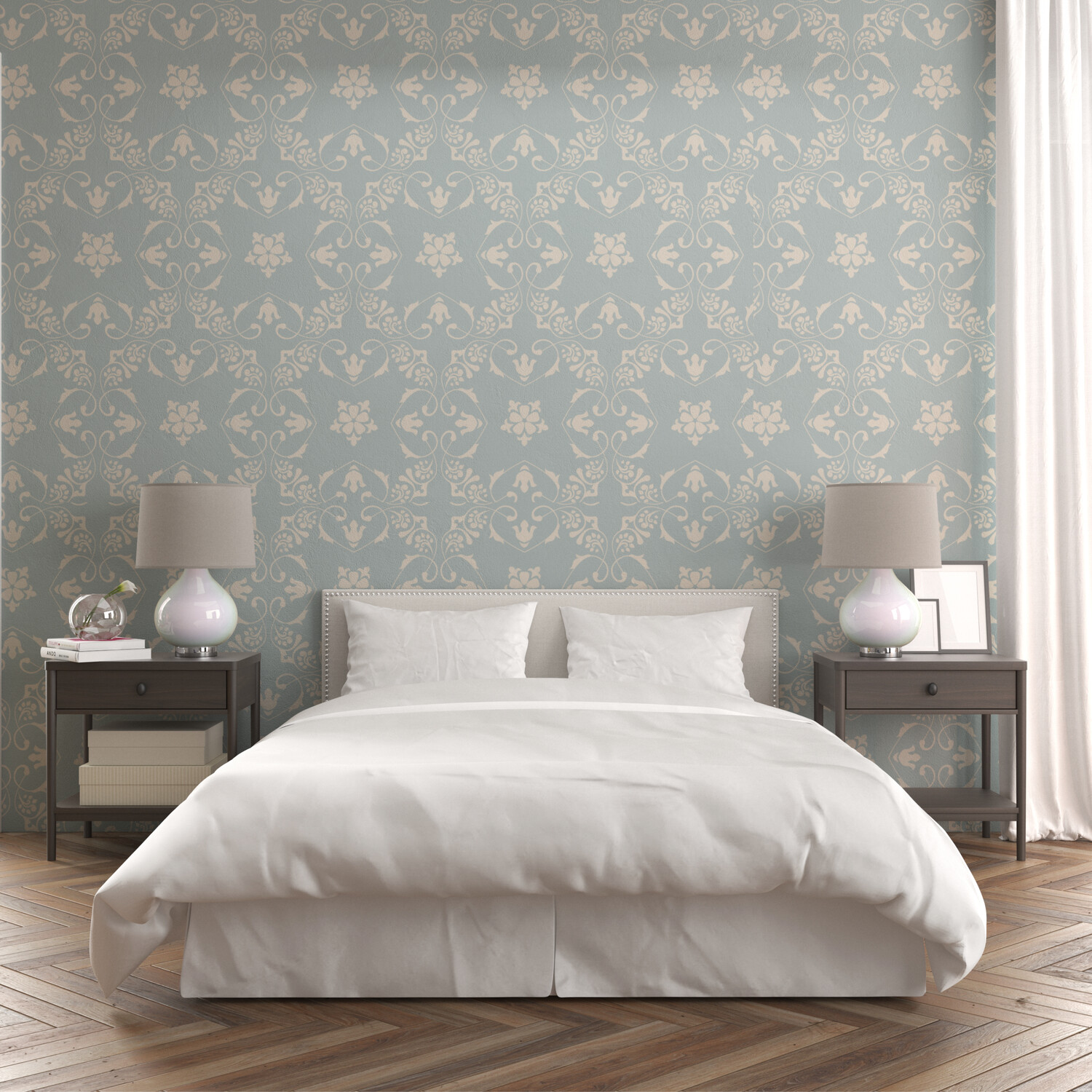 COUNTRY CHIC | Vinyl Wall Wrap for Any Room | Removable Vinyl Wallpaper