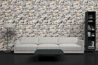 DISTRESSED ROCK | Vinyl Wall Wrap for Any Room | Removable Vinyl Wallpaper
