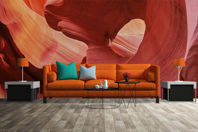 ABSTRACT CAVE | Vinyl Wall Mural for Any Room | Removable Vinyl Wallpaper