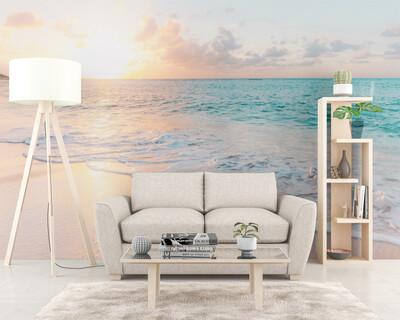 BRIGHT OCEAN | Vinyl Wall Mural for Any Room | Removable Vinyl Wallpaper
