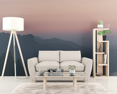 MOUNTAIN GRADIENT | Vinyl Wall Mural for Any Room | Removable Vinyl Wallpaper