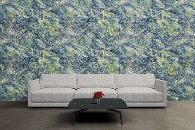 GREEN STONE | Vinyl Wall Wrap for Any Room | Removable Vinyl Wallpaper
