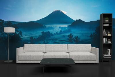 BLUE BALI | Vinyl Wall Mural for Any Room | Removable Vinyl Wallpaper