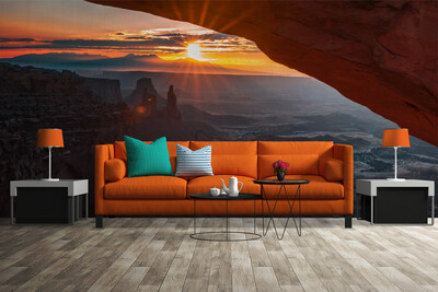 CAVE DWELLER | Vinyl Wall Mural for Any Room | Removable Vinyl Wallpaper