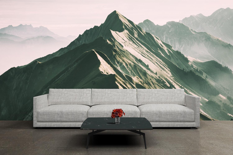 GREEN MOUNTAIN | Vinyl Wall Mural for Any Room | Removable Vinyl Wallpaper