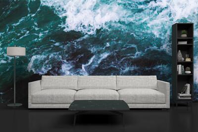OCEAN WAVES | Vinyl Wall Mural for Any Room | Removable Vinyl Wallpaper