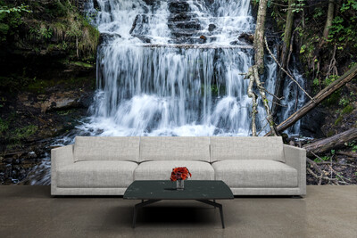 WATERFALL | Vinyl Wall Mural for Any Room | Removable Vinyl Wallpaper