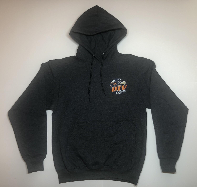 UTV Utah Men's Hoodie (Small Front Logo - 2 Sided)