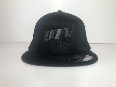 UTV Utah Hat (Black Flexfit Flat Bill)