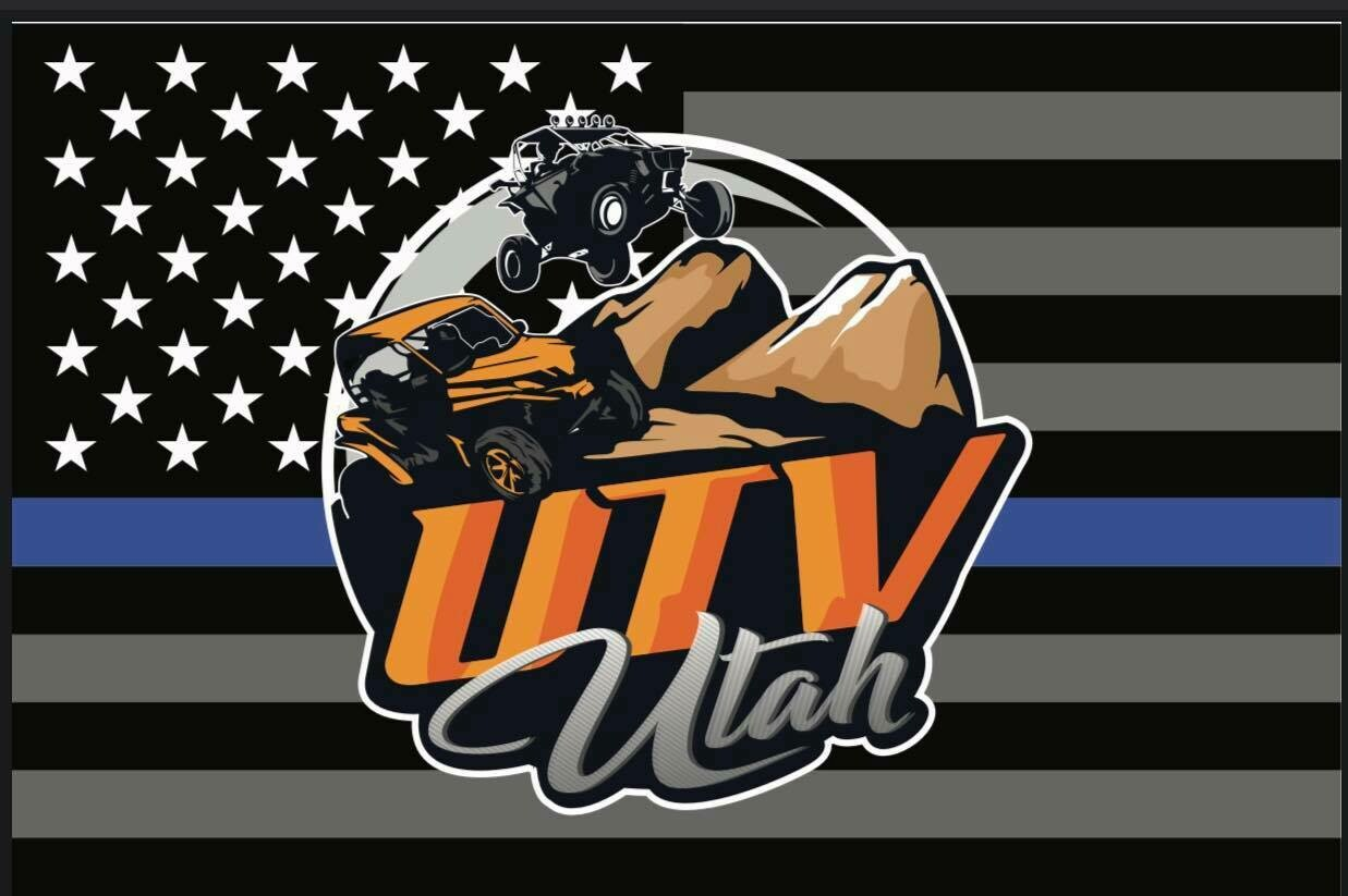 UTV Utah Flag (Thin Blue Line Edition) (12