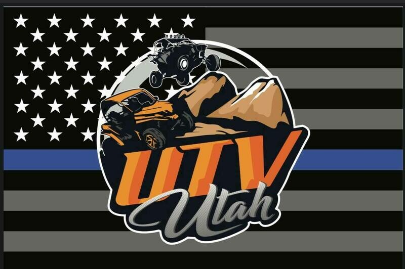 UTV Utah Flag (Thin Blue Line Edition) (12