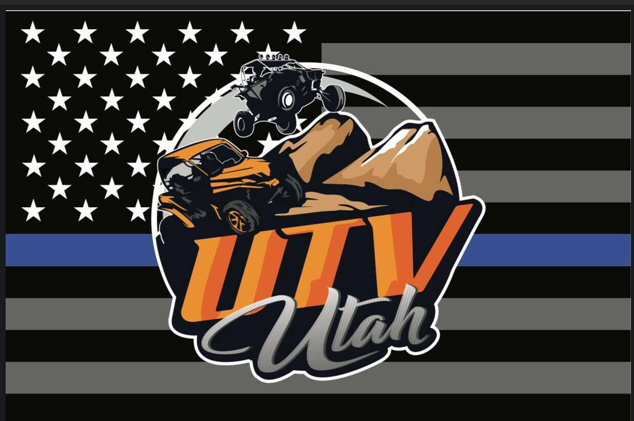 UTV Utah Flag (Thin Blue Line Edition) (2'x3')