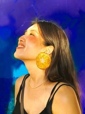 Clementine Slice Earrings, Last Pair!