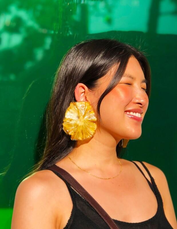 Pineapple Slice Earring