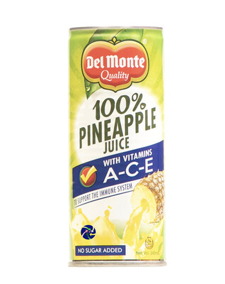 Del Monte 100% Pineapple Juice w/ ACE (240ml)
