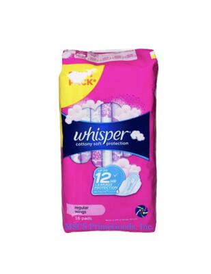Whisper Cotton Clean Regular Flow Wings (16s)