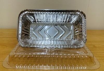 Aluminum Foil Tray w/ Plastic Lid (8