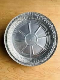 Aluminum Foil Tray Round w/ Plastic Lid (8.3