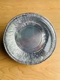 Aluminum Foil Tray Round w/ Plastic Lid (6.25