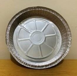 Aluminum Foil Tray Round w/ Plastic Lid (9