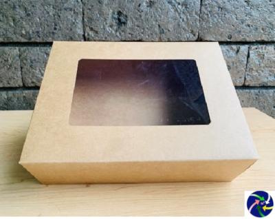 "Pastry Box w/ Window 7¼"" x 10"" x 3"""