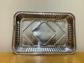 """Aluminum Foil Tray (12.2"""" x 8.3"""" x 2"""")"""