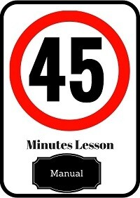 Manual driving lesson 45 minutes