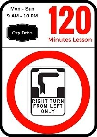 City driving lesson 120 minutes