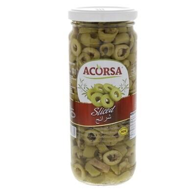 Green Olive Sliced 230g-زيتون أخضر شرائح