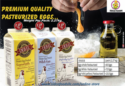 Frozen Pasteurized Whole Eggs 2.27kg- بيض كامل مبستر