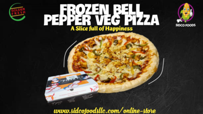 Frozen Large Bell Pepper Vegetable pizza  -بيتزا بالفلفل الحار