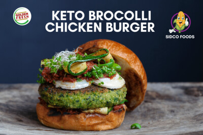 Smart Chicken Keto Burger -Broccoli+ Chicken 400g : 4pcs