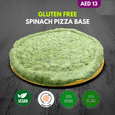 Premium Vegan Spinach Pizza Base Frozen 1pcs(11 Inch)