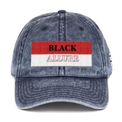 Black Allure Vintage Hat