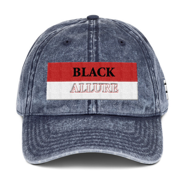Black Allure Vintage Hat