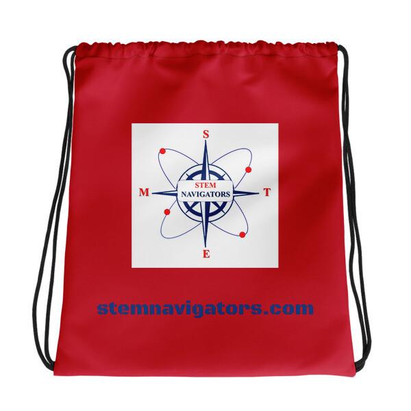 STEM Navigators - RED Drawstring bag