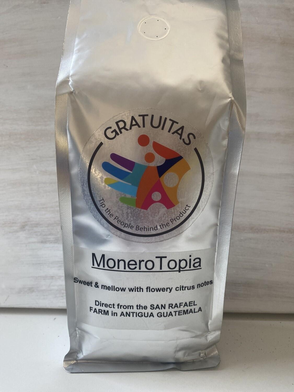 MoneroTopia. Guatemalan Whole-Beans. 14oz bag. Shipping included.