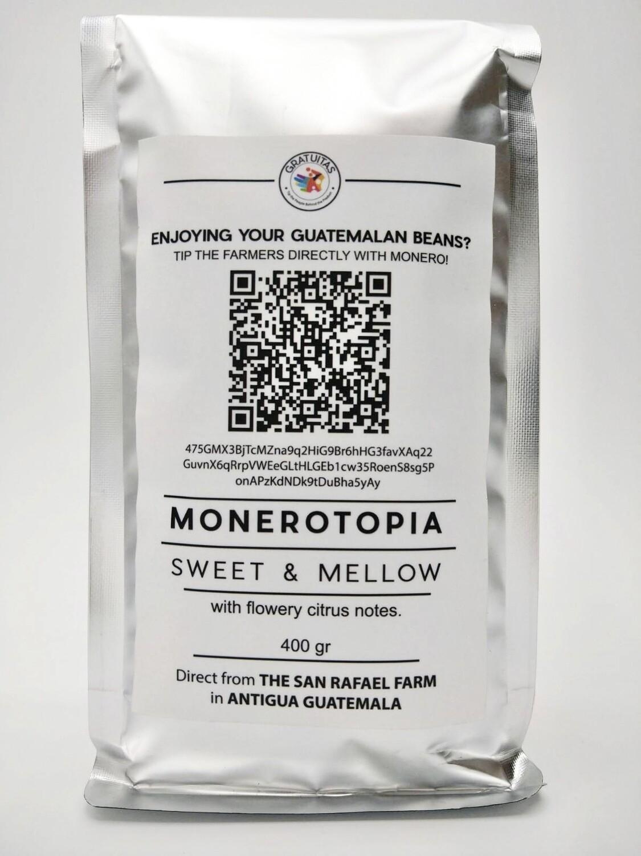 MoneroTopia. Guatemalan Whole-Beans. 14oz bag. (USA Shipping included)