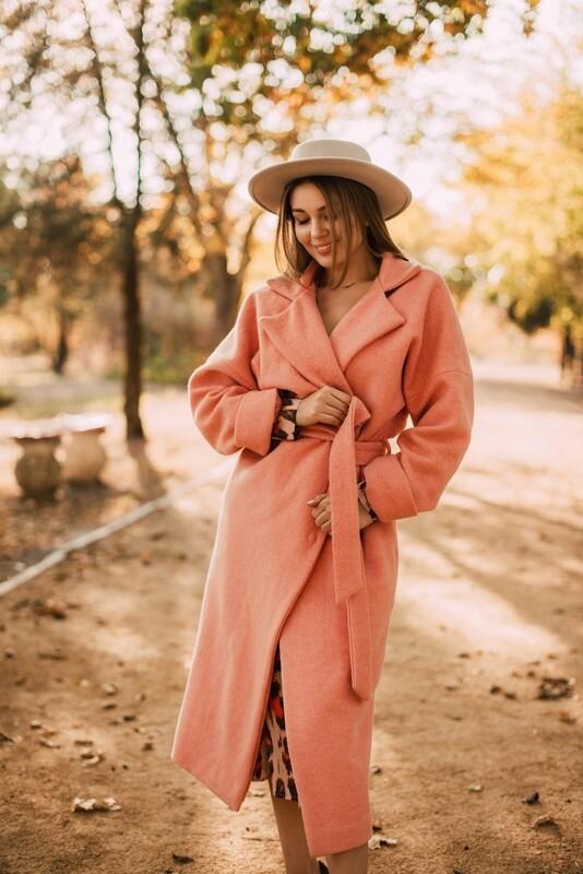 Wool Coat Peach Paradise