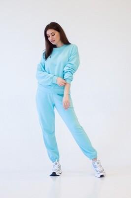 Cotton Sweatpants and Sweatshirt in Blue