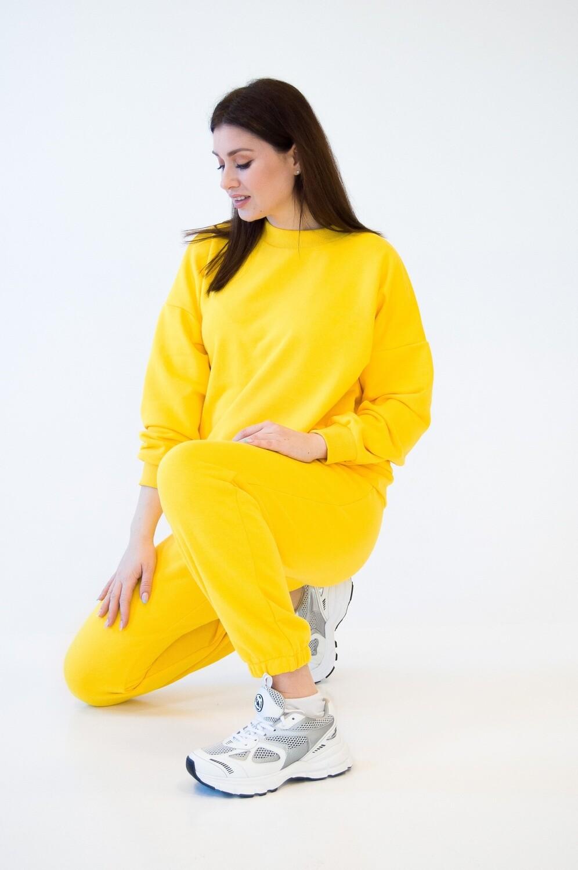 Cotton Sweatpants and Sweatshirt in Yellow
