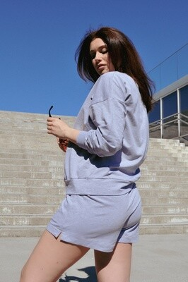 Cotton Sweatpants and Shorts in Grey