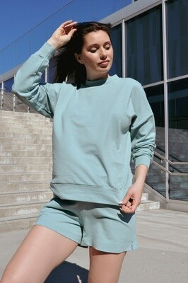 Cotton Sweatpants and Shorts in Mint