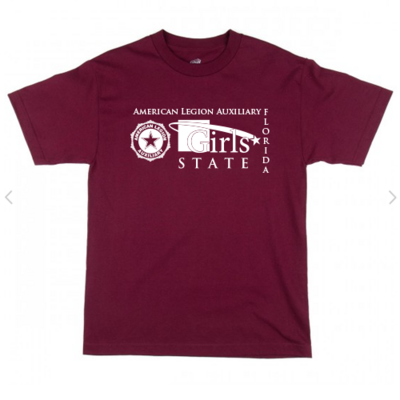 Girls State Burgundy Shirt