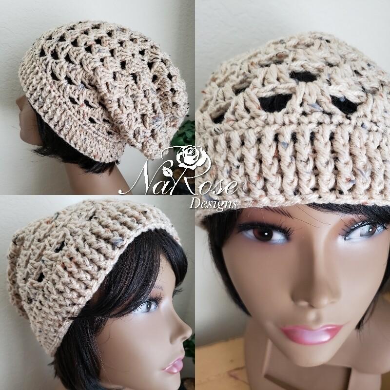 Buff Fleck Slouchy Hat