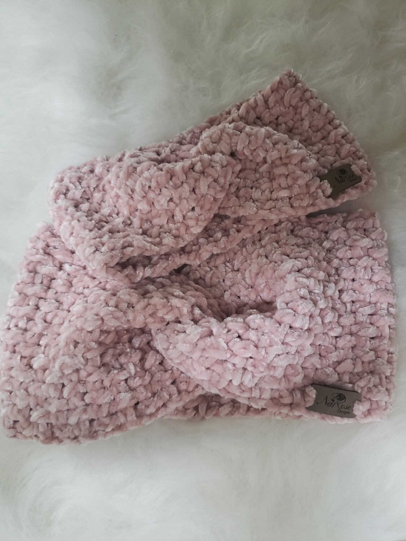 Baby Pink Velvet Earwarmer