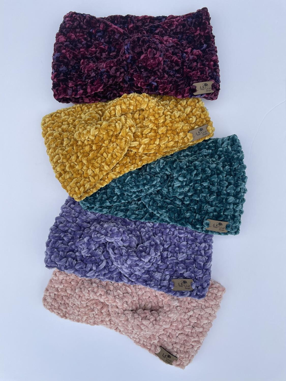 Velvet Open Turban, Earwarmer, Headband, Headwrap