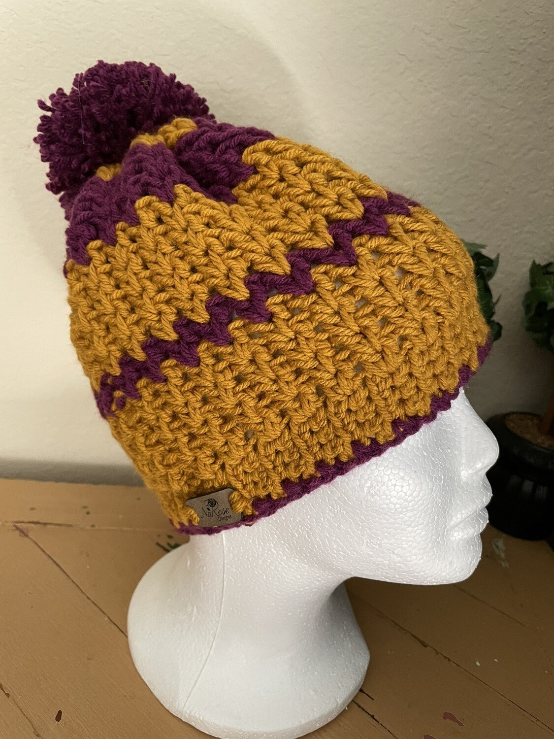 Purple And Gold Teen/Adult Hat